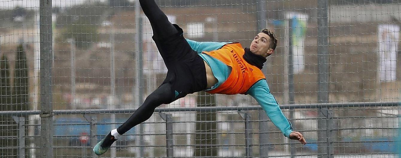 """Роналду на тренуванні повторив свій фантастичний гол у ворота """"Ювентуса"""""""
