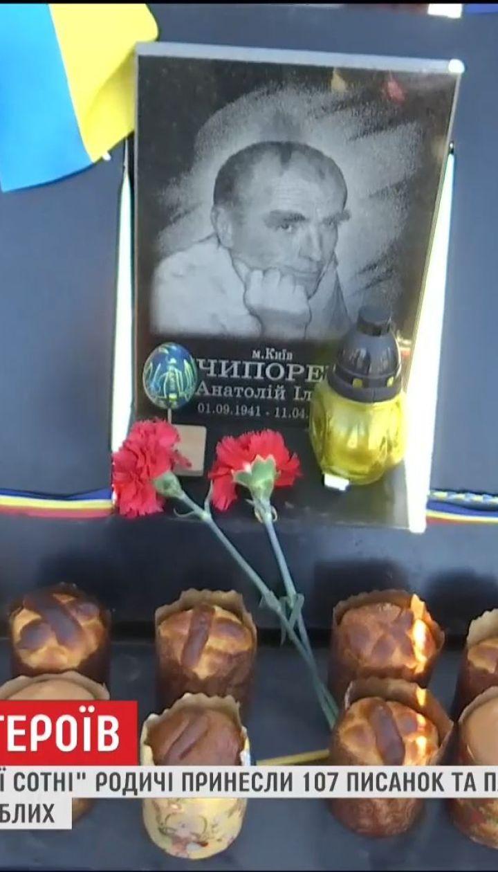 Вшанувати пам'ять: на Алею Героїв Небесної Сотні принесли 107 писанок та пасок