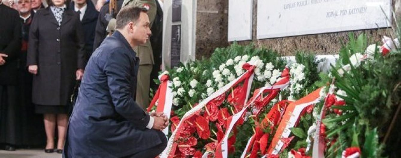 В Варшаве появился памятник жертвам Смоленской катастрофы