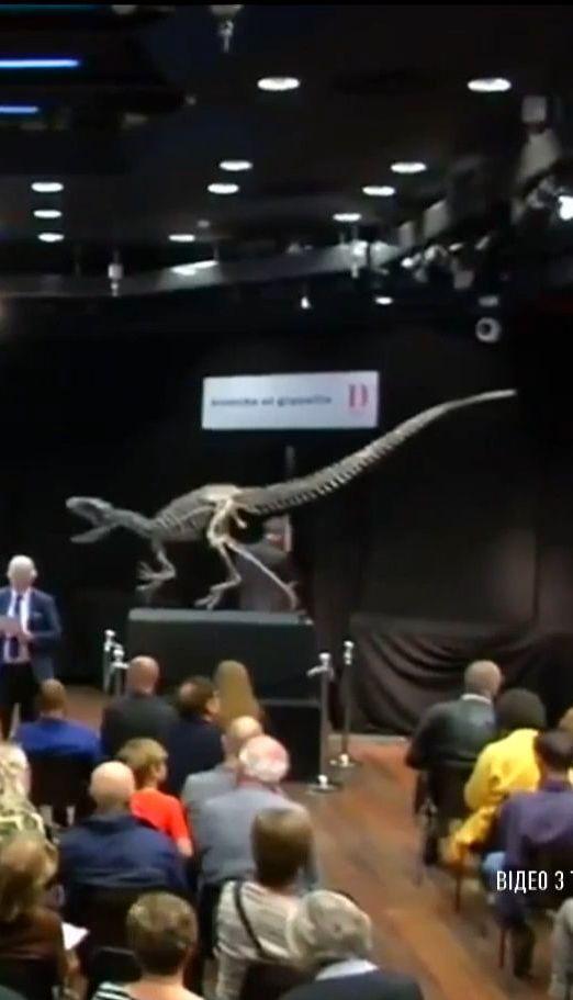 На парижском аукционе продали два скелета древних динозавров