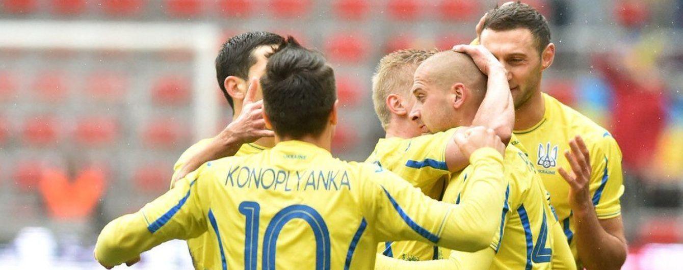 Сборная Украины ворвалась в топ-30 рейтинга ФИФА