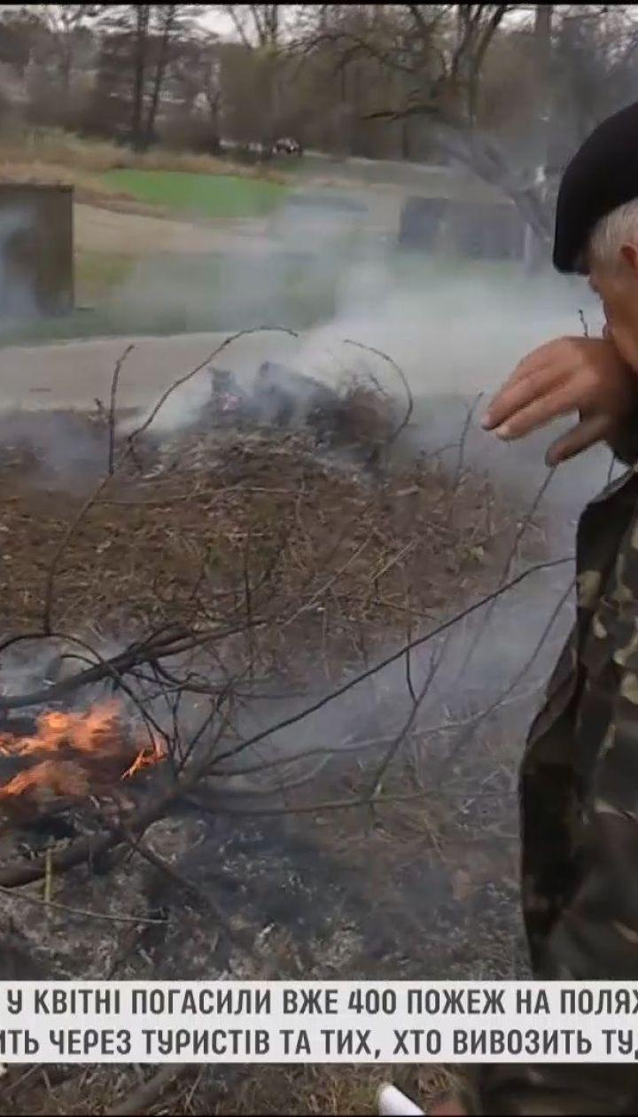 Через пикники и человеческую неосторожность спасатели за неделю тушили сотни пожаров