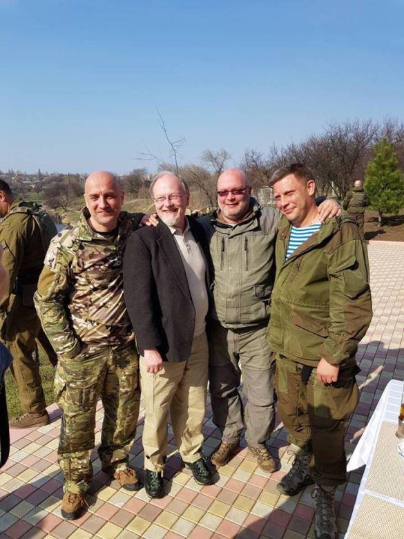 Актор Пітер фон Берг з терористами ДНР