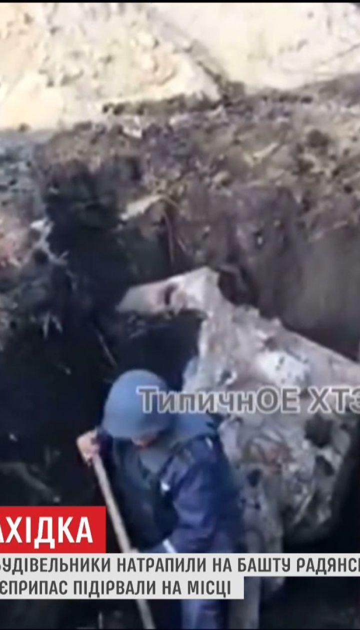 В Харькове нашли башню танка со снарядом в стволе