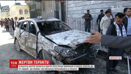 Кількість жертв теракту в Кабулі зросла до 57 людей