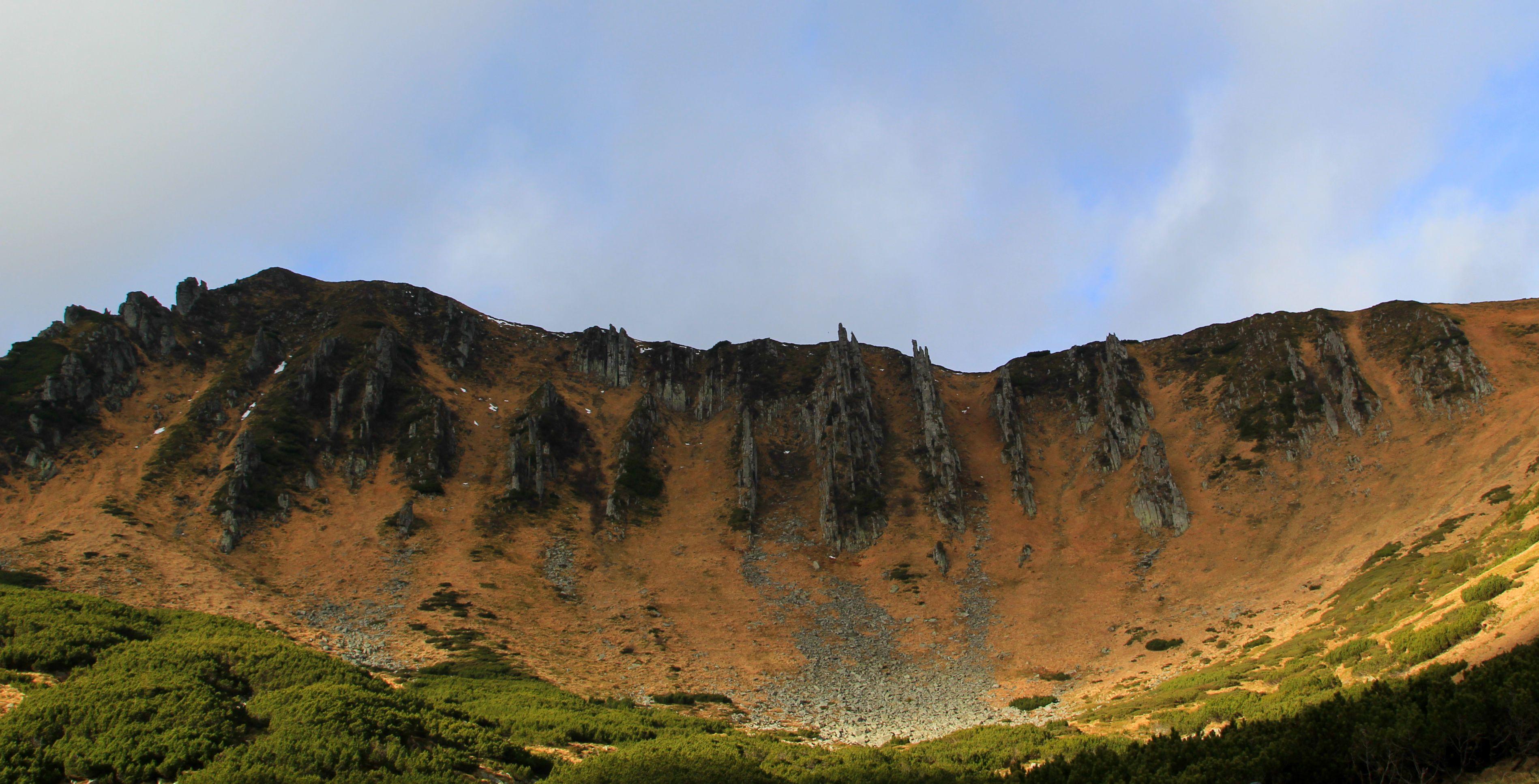 Гора Ребра, Карпати