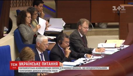 ПАСЕ признала, что Россия фактически управляет неподконтрольными территориями Донбасса