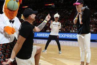Ганна Безсонова отримала пропозицію вийти заміж просто під час матчу НБА