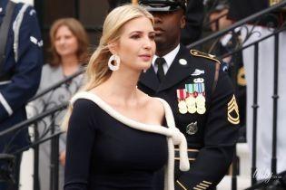 В экстравагантном платье и необычных серьгах: новый образ Иванки Трамп