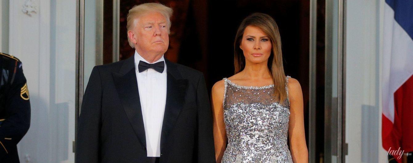 Вновь впечатлила: Мелания Трамп в роскошном платье блистала на торжественном ужине в Белом доме