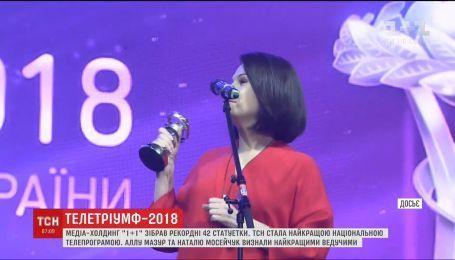 """1+1 Media зібрав рекордну кількість статуеток """"Телетріумф"""""""