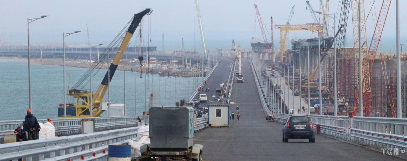 В оккупированном Крыму засняли аварию на строительстве Керченского моста