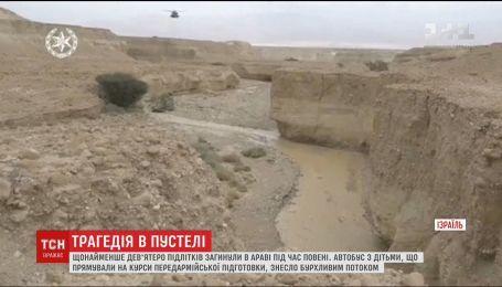 Девять израильских подростков погибли из-за наводнения