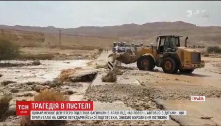 Повінь в ізраїльській пустелі забрала життя дев'ятьох підлітків