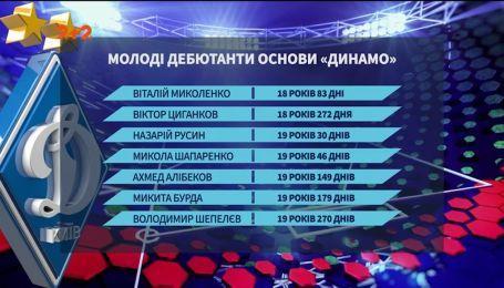 Самые молодые дебютанты киевского Динамо