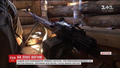 Боевики обстреливают украинские позиции у Горловки из жилых дворов