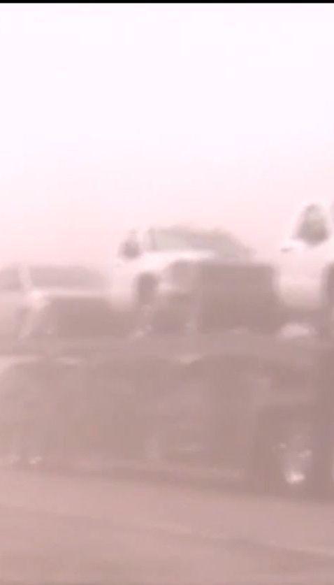 В американском штате Небраска пылевая буря вызвала массовое ДТП