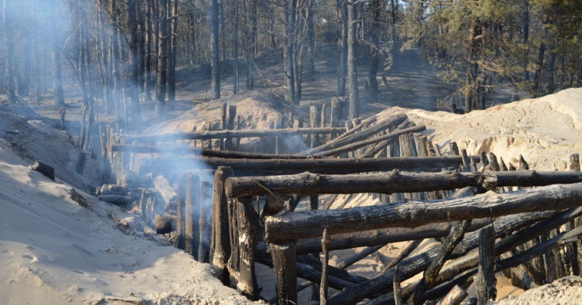 Пожежа в лісі поблизу військових складів у Гончарівську на Чернігівщині @ ДСНС України