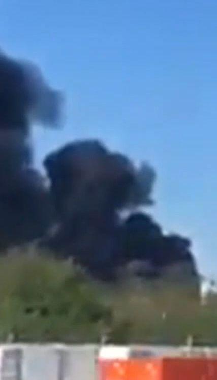 В Белой Церкви вспыхнул масштабный пожар на складе по хранению шин