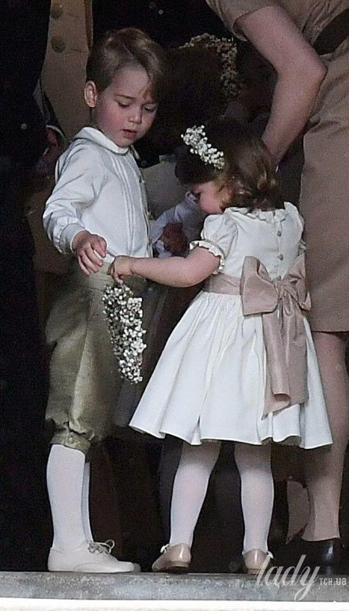 Принц Джордж и принцесса Шарлотта на свадьбе Пиппы Миддлтон