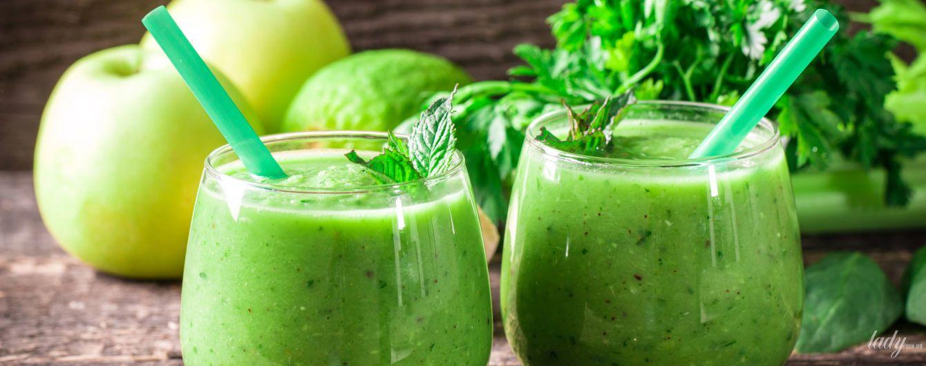 зеленый коктейль для похудения рецепты