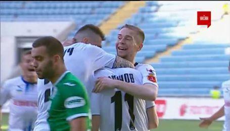 Черноморец - Карпаты - 1:1. Видео гола Смирнова