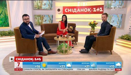 """До студії """"Сніданку"""" завітав актор фільму  """"Кіборги"""" Макар Тихомиров"""