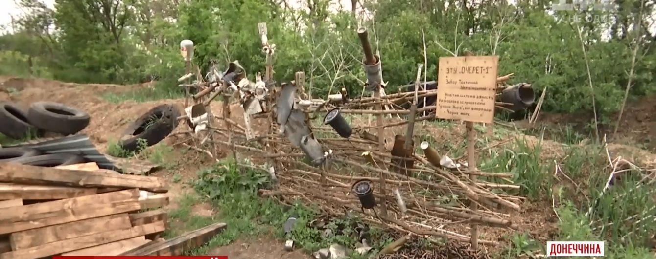 Морпехи возле Азова отгородились от боевиков забором из осколков крупнокалиберных снарядов