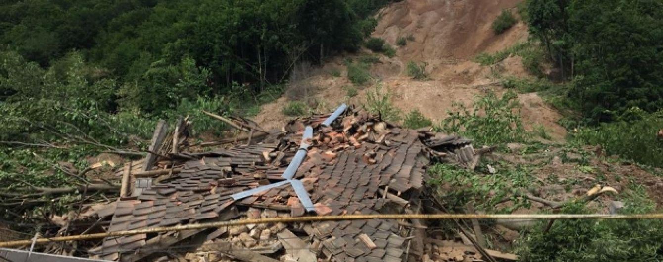 Из-за оползня полторы сотни домохозяйств на Закарпатье остались без газа