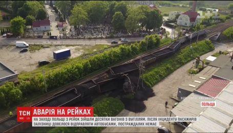 У Польщі зійшов з рейок потяг, який перевозив 30 вагонів вугілля
