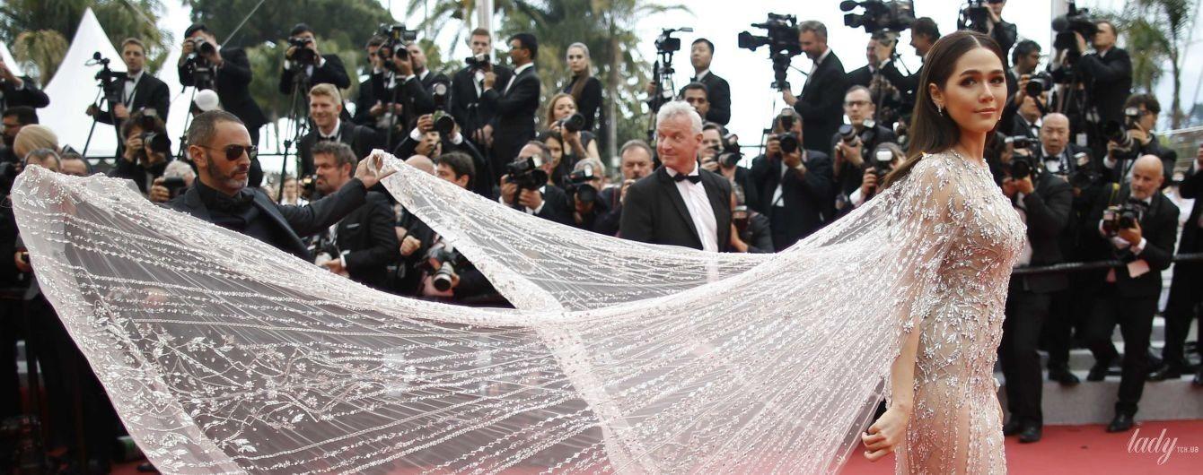 Канны-2018: красотки в прозрачных платьях на красной дорожке