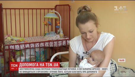 Батьки шестимісячної Саши прохають людей допомогти врятувати донечку