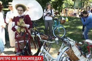 Ретро-велопробег удивил киевлян стильными образами