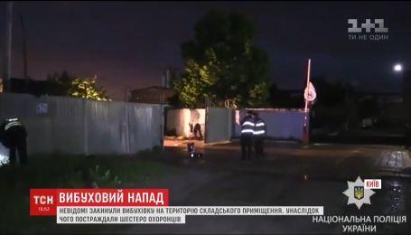 Шестеро людей шпиталізовані після вибуху на території промислової зони у Києві