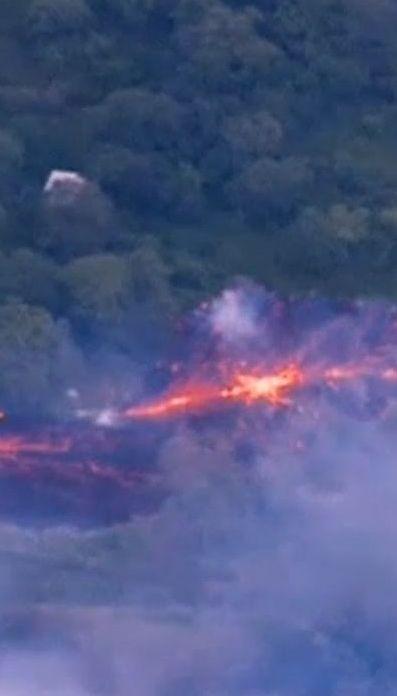 Из-за извержения вулкана на Гавайях земная кора трещит по швам