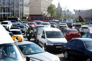 Центр Киева парализовали пробки