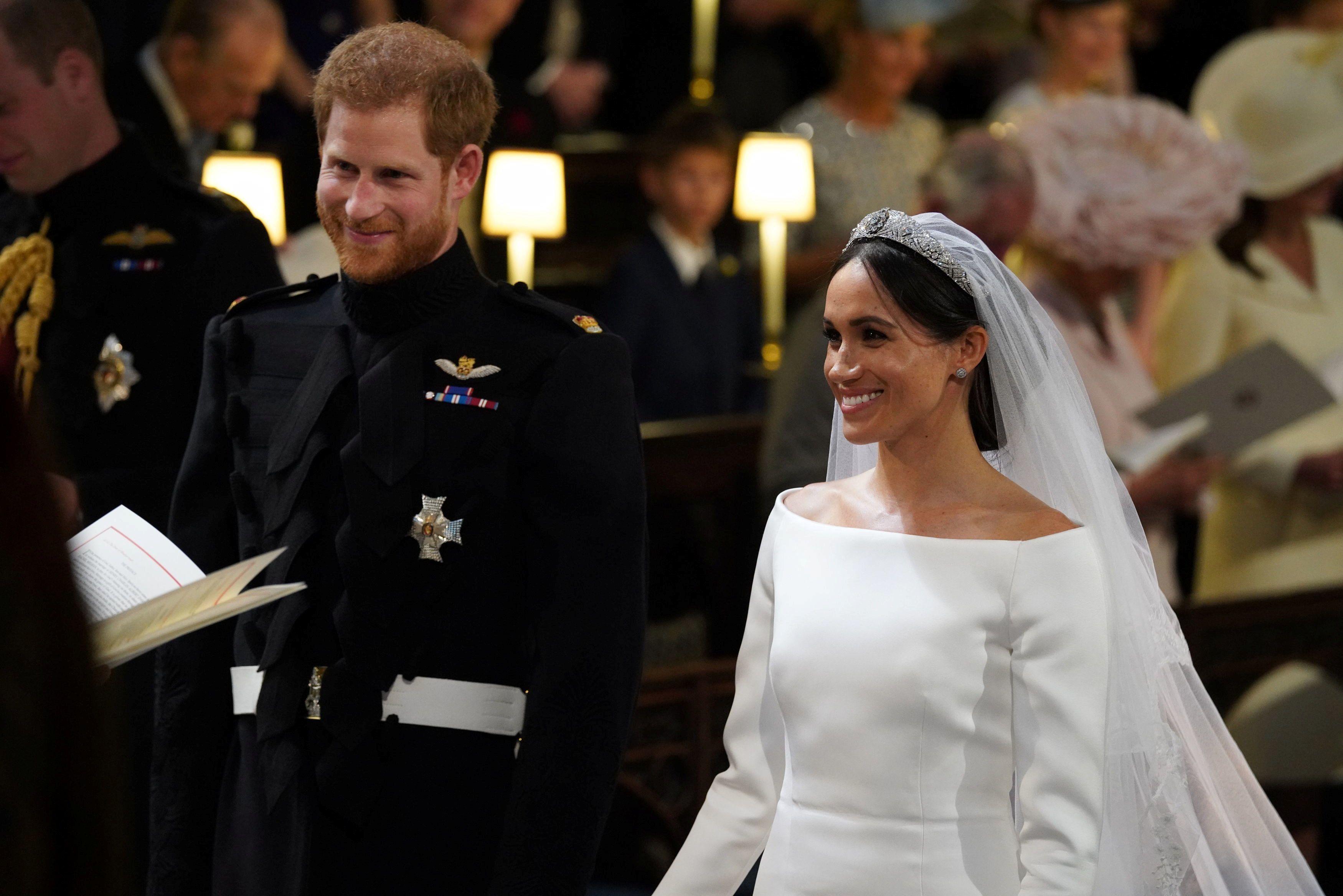 Меган Маркл та принц Гаррі одружуються