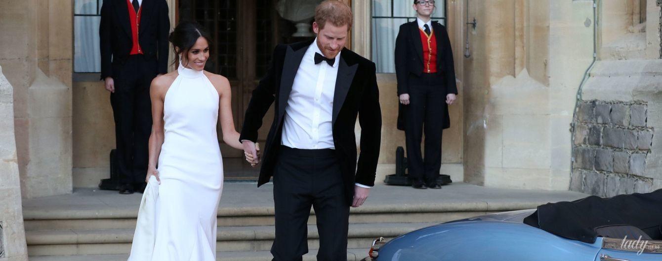 В платье от Stella McCartney: очаровательная Меган Маркл с супругом принцем Гарри отправились на вечерний банкет