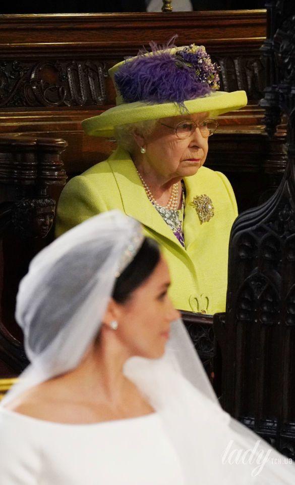 Королева Елизавета II на свадьбе Меган Маркл и принца Гарри_5