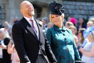 В красивом пальто и на каблуках: глубоко беременная Зара Тиндолл на королевской свадьбе