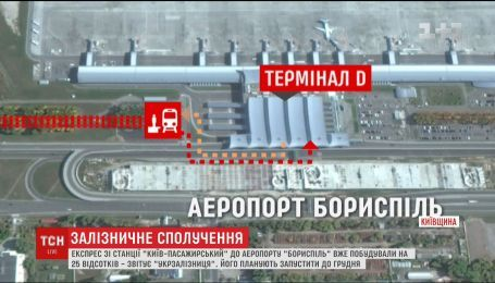"""В """"Укрзалізниці"""" розповіли про стан будівництва експресу до Борисполя"""