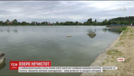 У Рівному категорично не радять купатися в найпопулярнішому серед містян озері