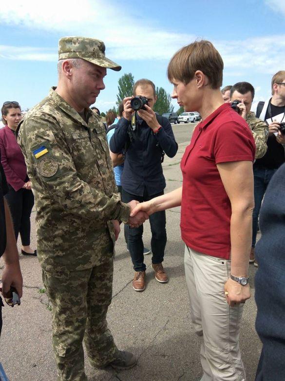 Керсті Кальюлайд на Донбасі