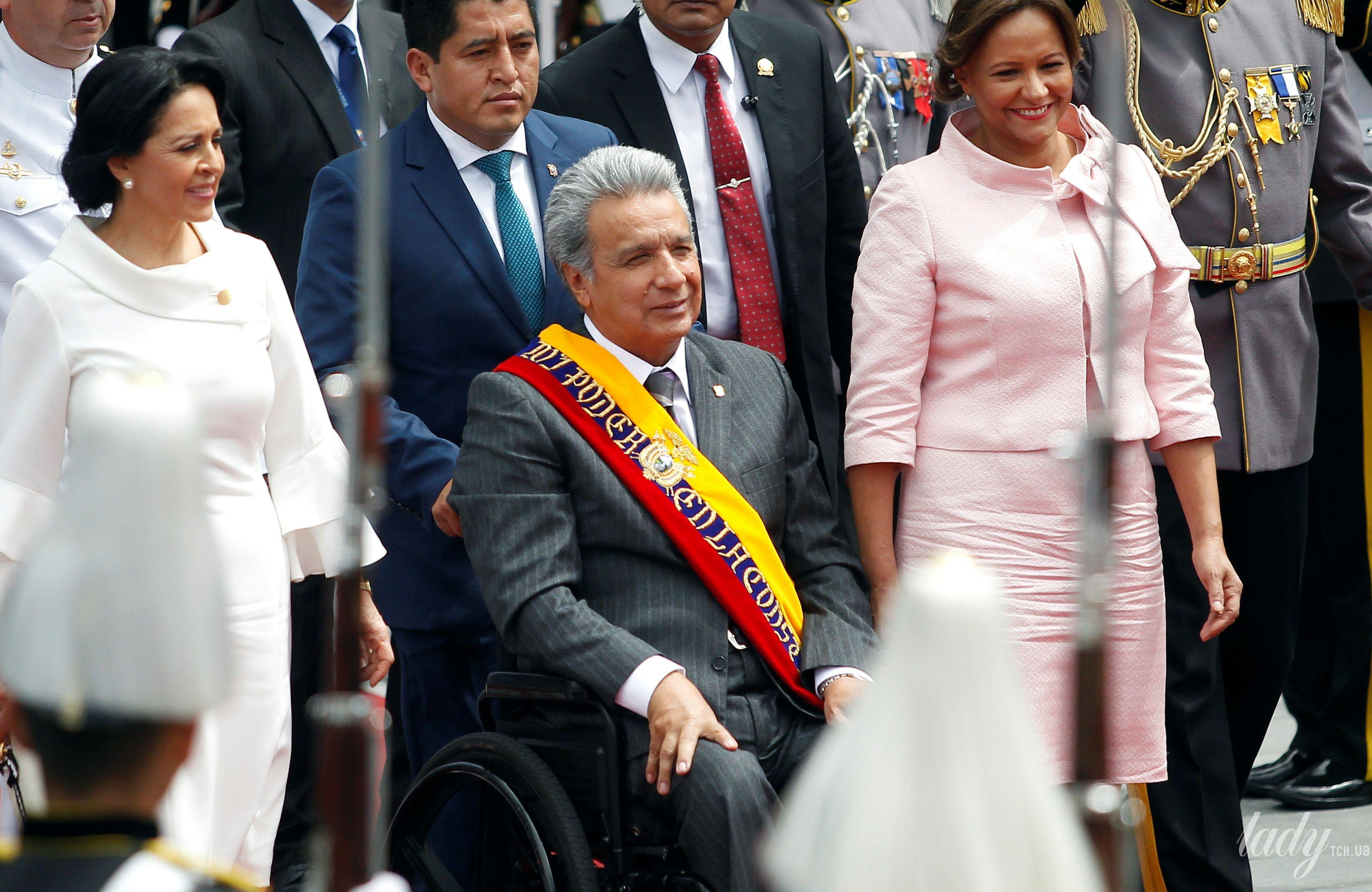 Президент Эквадора Ленин Морено первая леди Росия Гонсалес и президента Национального собрания Элизабет Кабезас_5