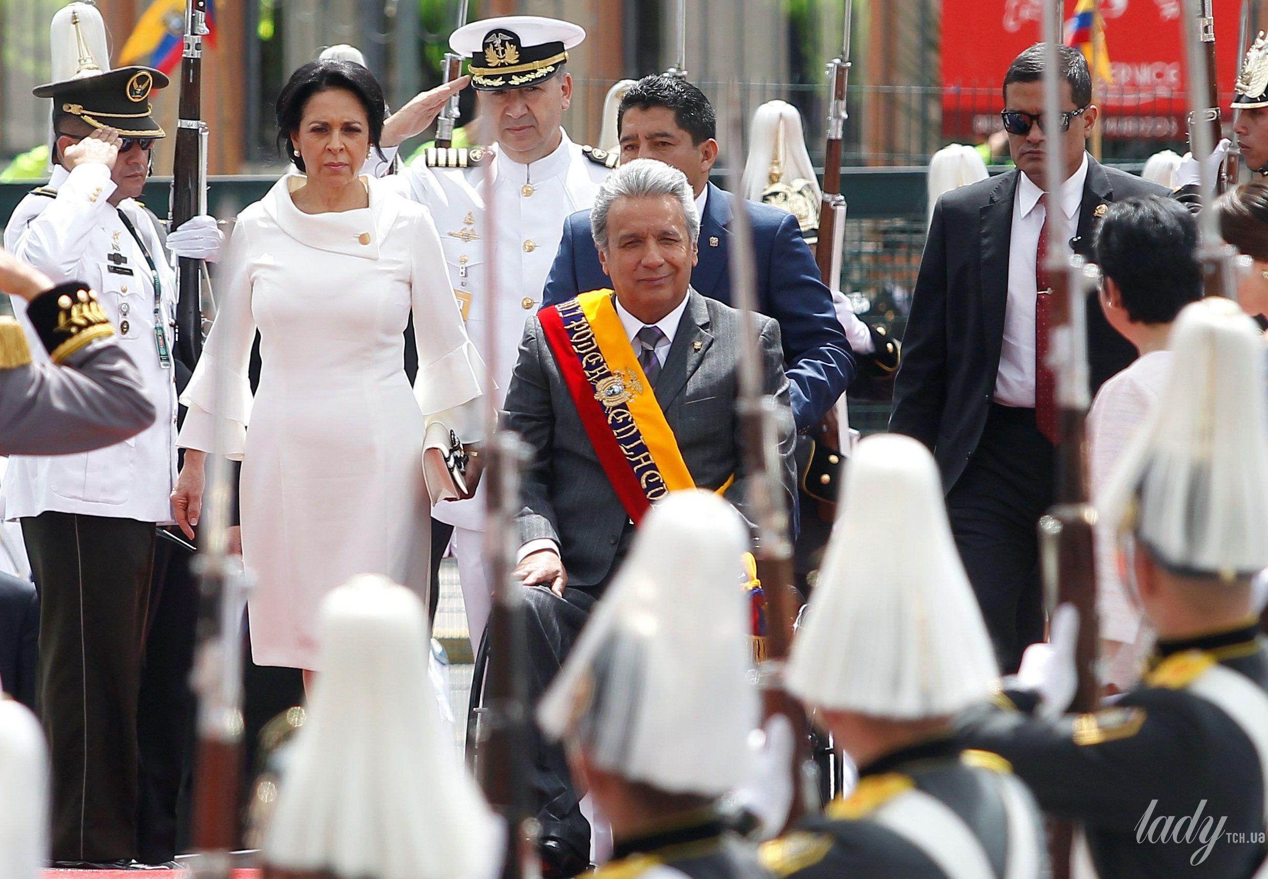 Президент Эквадора Ленин Морено первая леди Росия Гонсалес и президента Национального собрания Элизабет Кабезас_1