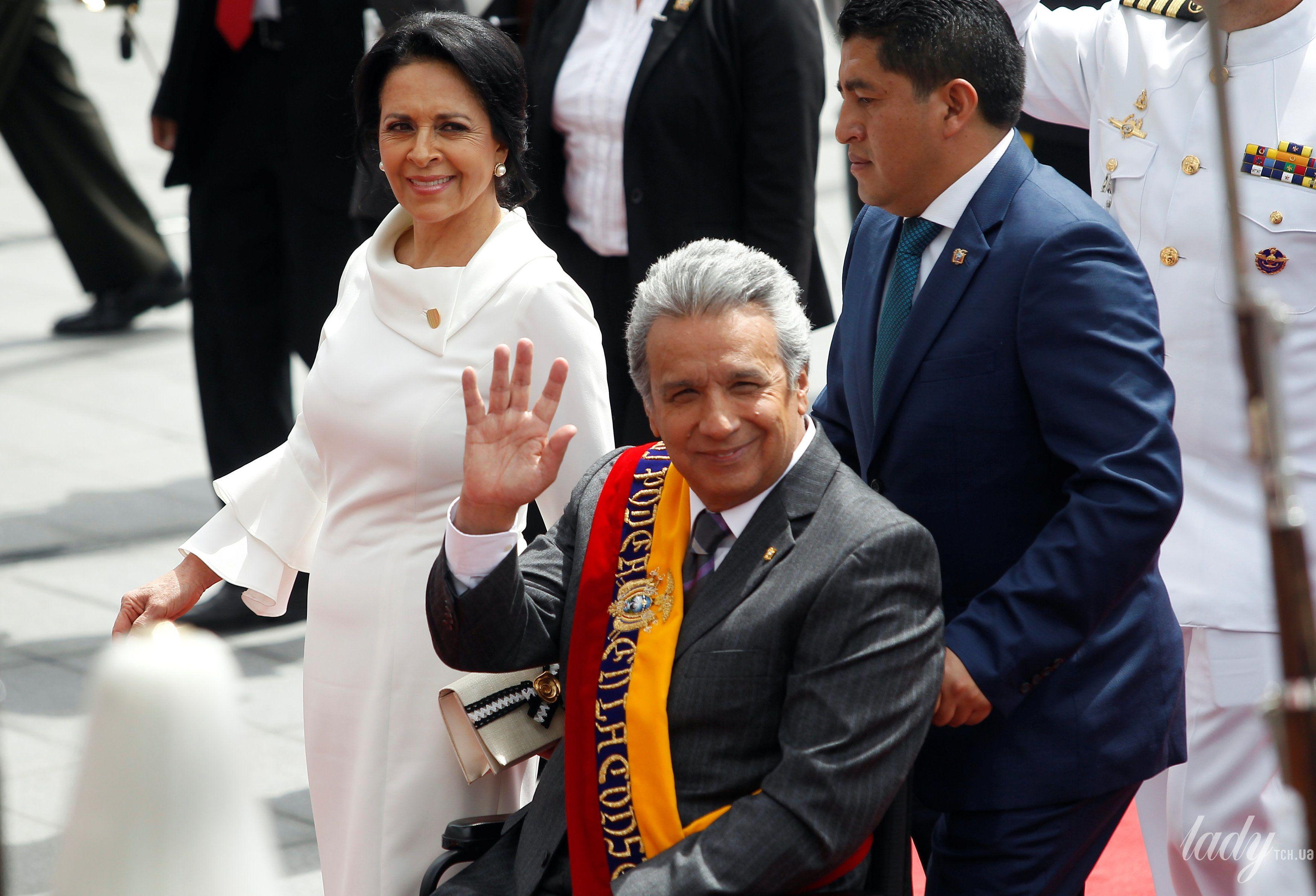 Президент Эквадора Ленин Морено первая леди Росия Гонсалес и президента Национального собрания Элизабет Кабезас_4