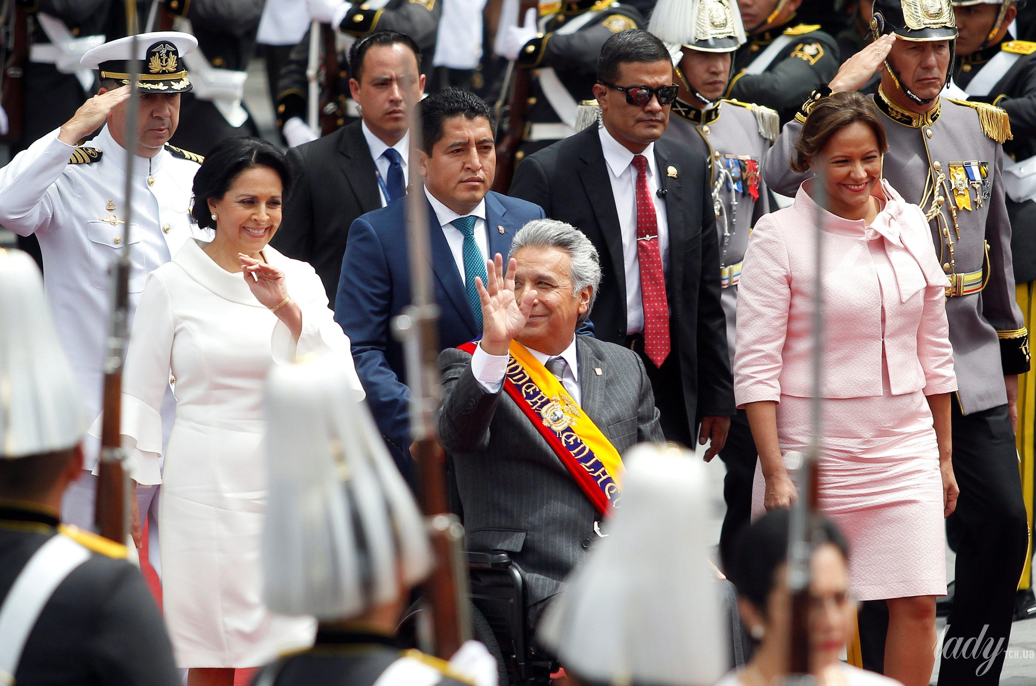 Президент Эквадора Ленин Морено первая леди Росия Гонсалес и президента Национального собрания Элизабет Кабезас_6