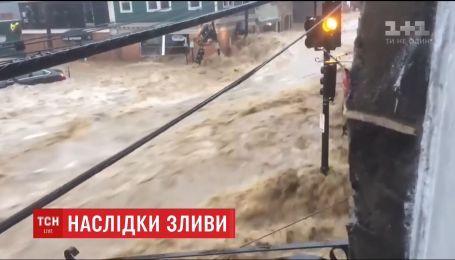 В американском штате Мэриленд города уходят под воду из-за мощного ливня