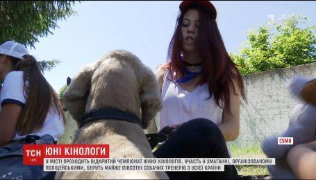 Почти полсотни собачьих тренеров со всей Украины приехали в Сумы на фестиваль кинологов