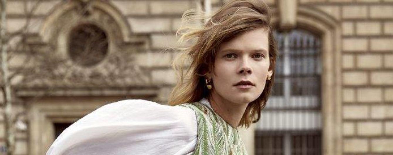 Украинская модель Ирина Кравченко снялась в стильном фотосете для известного глянца